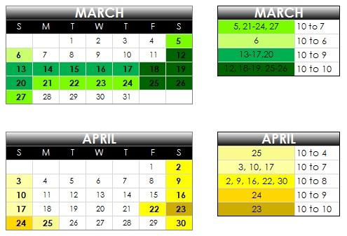 calendar 2011 april. 2011 calendar march april.